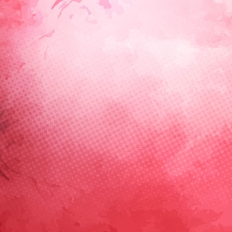 Pink watercolor background with dots