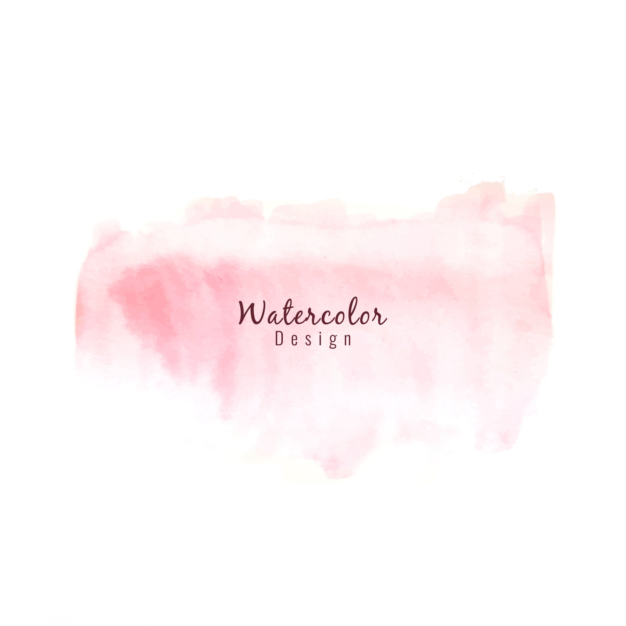 Pink watercolor design background