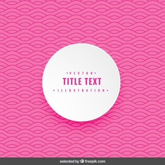 Pink wavy background with rounded label