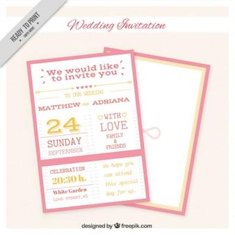 Pink Wedding Invitation