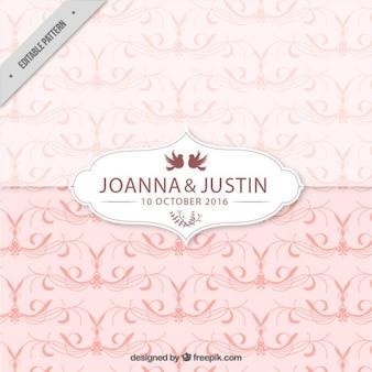 Pink wedding pattern