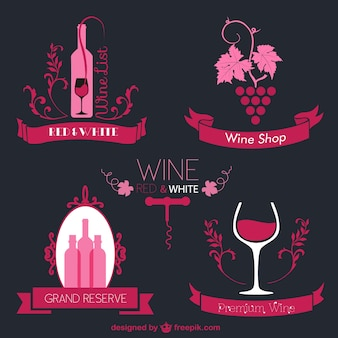 Pink wine labels