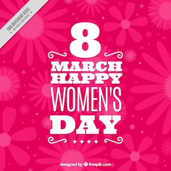 Pink woman day decorative background