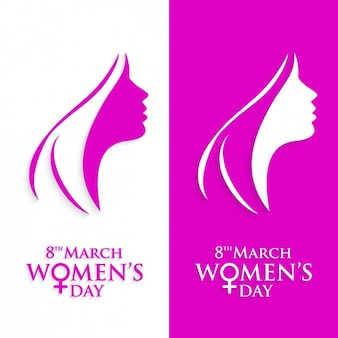 Pink women's day banners pack