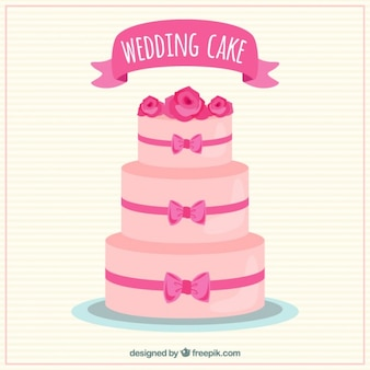 Pinky wedding cake