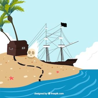 Pirate island background