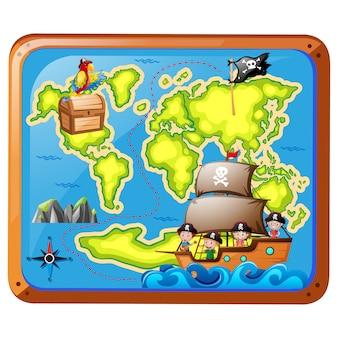 Pirate map design
