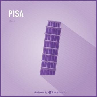 Pisa vector landmark