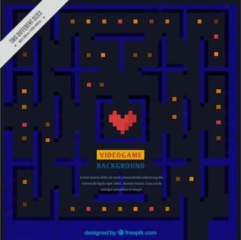 Pixelated video game scene