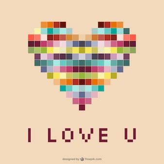 Pixels heart
