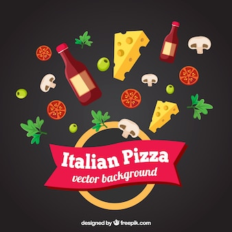 Pizza ingredients background