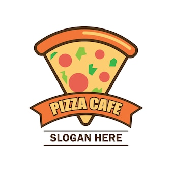 Pizza logo with text space for your slogan