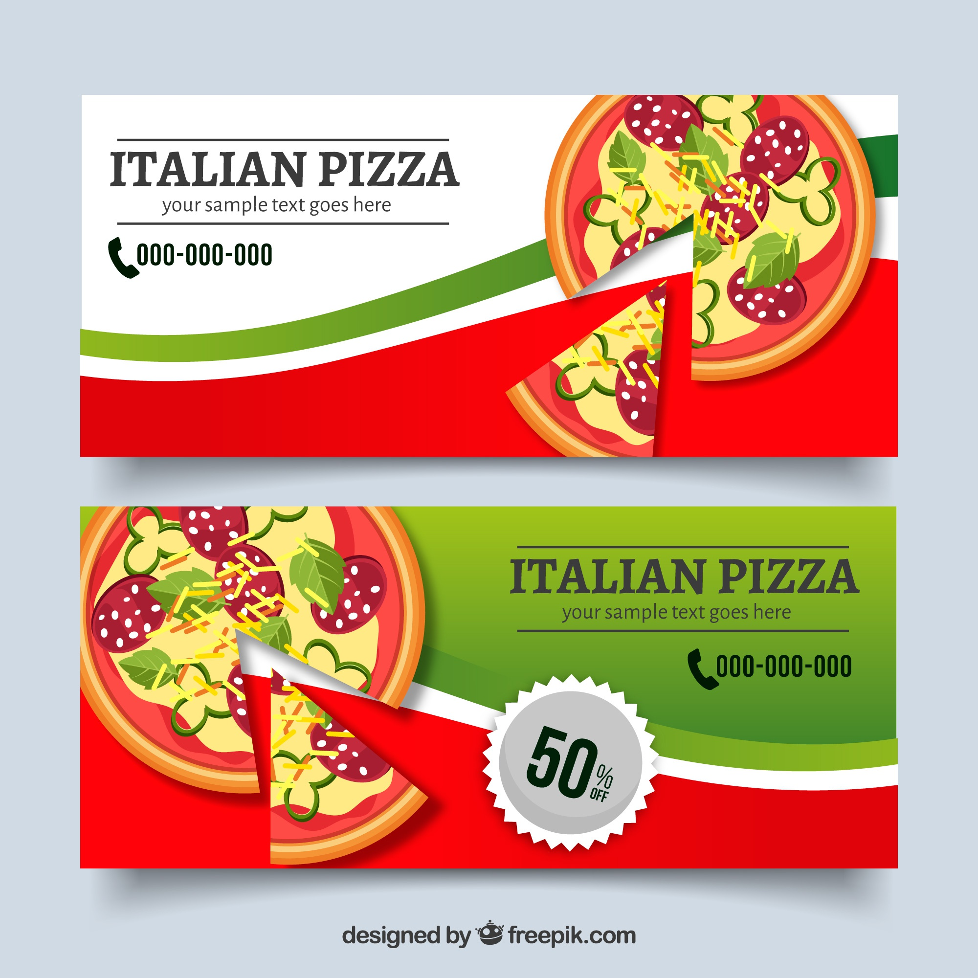 Pizza offers banners