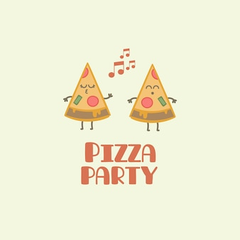 Pizza party background
