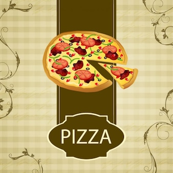 Pizza restaurant background