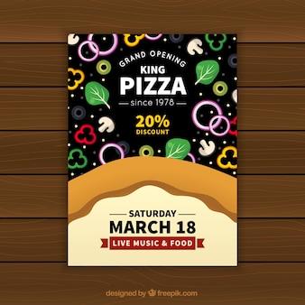 Pizzeria pizzeria with ingredients