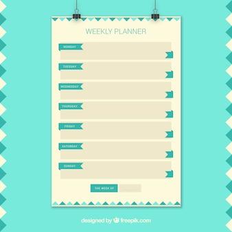 Plain weekly planner