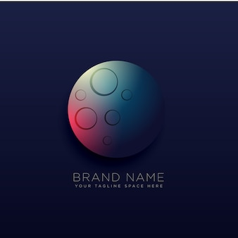 Planet logo design with light effect