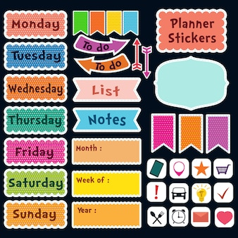 Planners stickers collection
