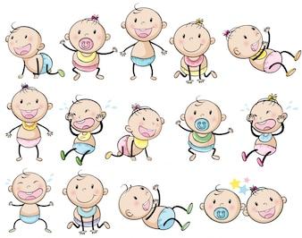 Playful babies