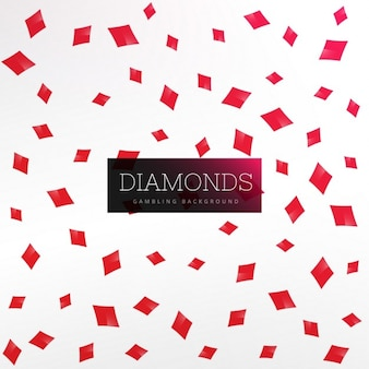 Playing cards diamond shapes background