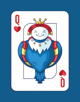 Playing poker with queen of hearts