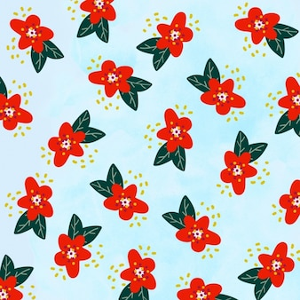 Poinsettias pattern design