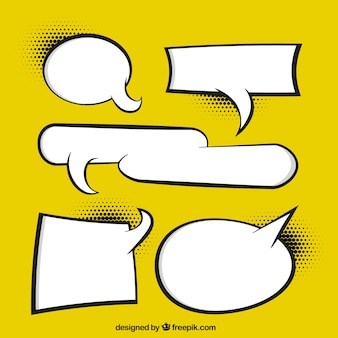 Pointed effect speech bubbles collection