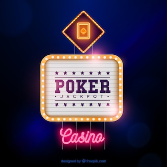 Poker casino sign background