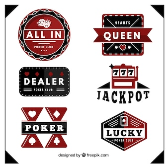Poker club badges