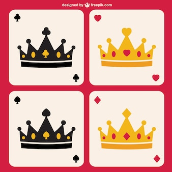 Poker crowns vector