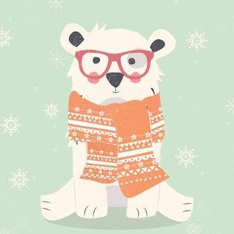 Полярный медведь дизайн фона