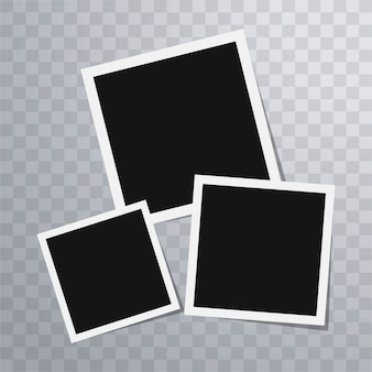 Polaroid photo frames template
