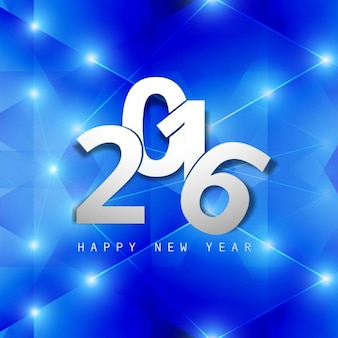 Polygonal and shiny card of new year 2016