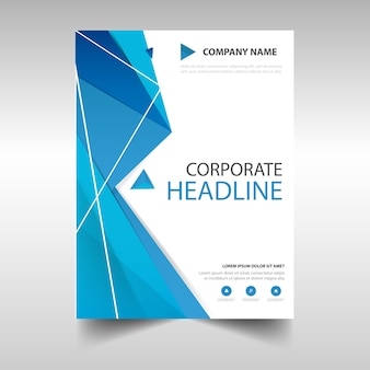 Polygonal annual report book cover template