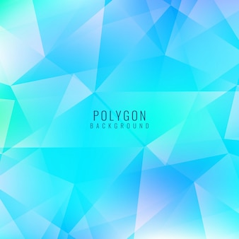 Polygonal background, bright blue color