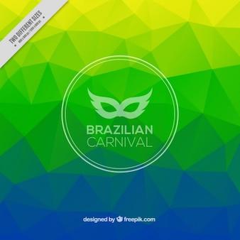 Polygonal background for brazilian carnival
