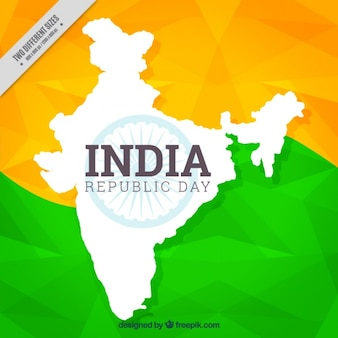 Polygonal background for indian republic day