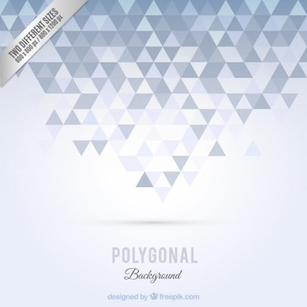 Polygonal background in grey tones
