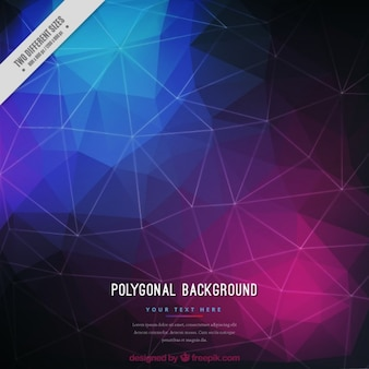 Polygonal background in purple and blue tones