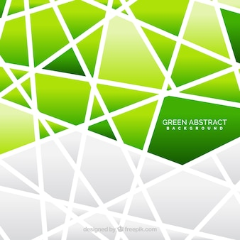 Polygonal background of green color