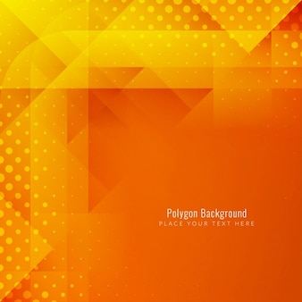 Polygonal background, orange