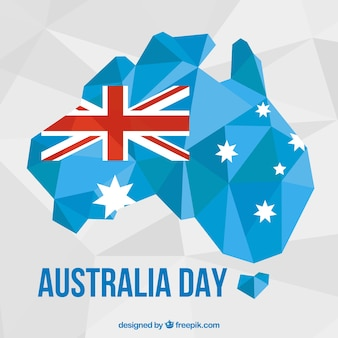 Polygonal background ready for australia day