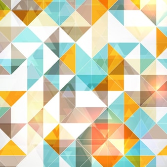 Polygonal background with blue and orange triangles