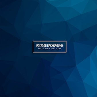 Polygonal background with blue tones