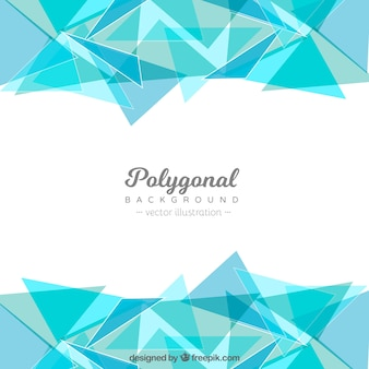 Polygonal background with blue triangles