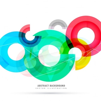 Polygonal background with circles