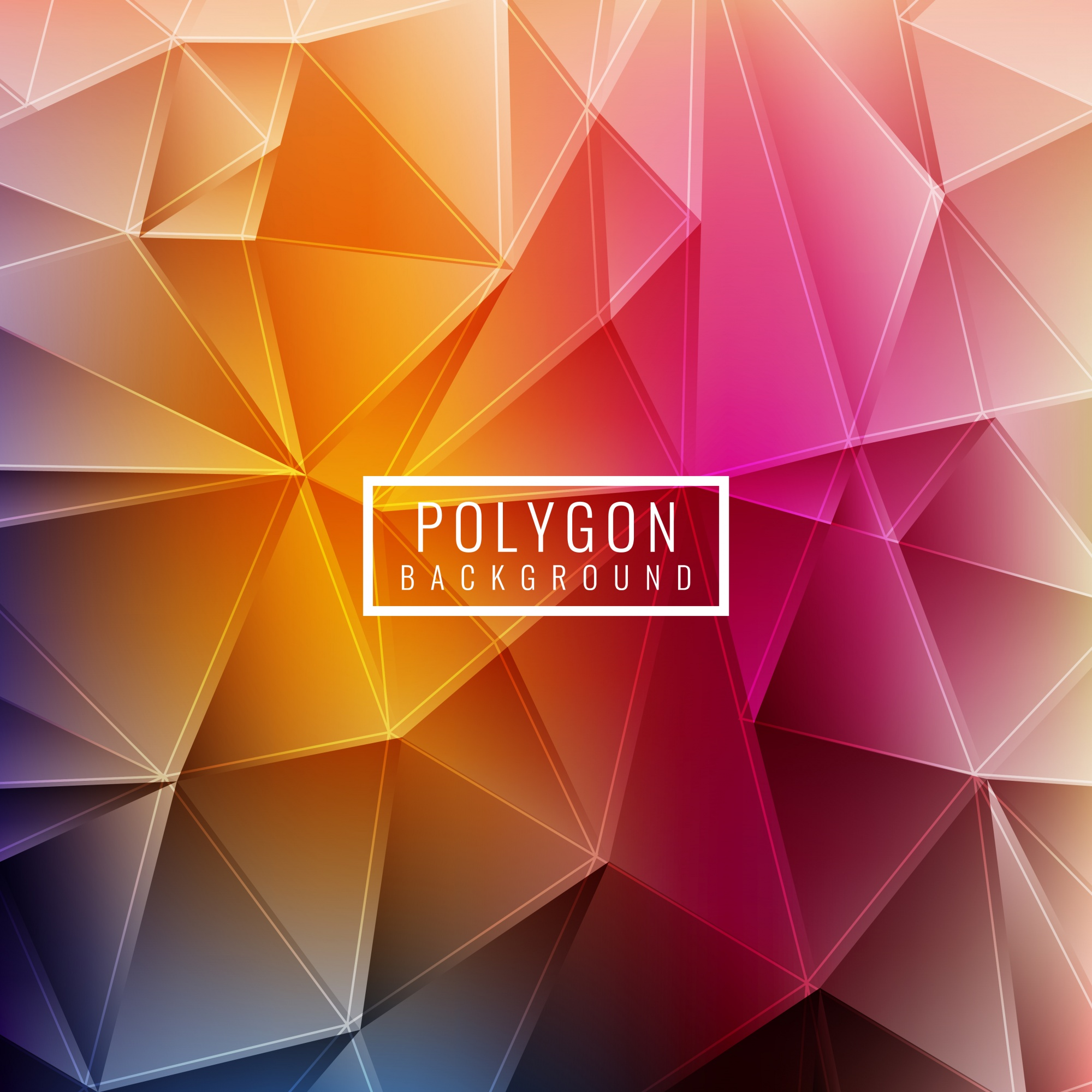 Polygonal background with colorful shapes