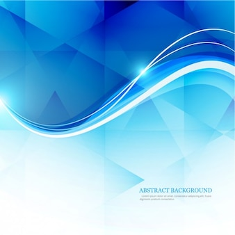 Polygonal background with shiny waves