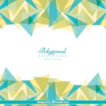 Polygonal background with triangles